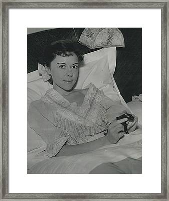 Dorothy Tutin Recovers Prom Her Illness Framed Print by Retro Images Archive