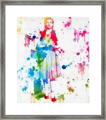 Dorothy Wizard Of Oz Paint Splatter Framed Print