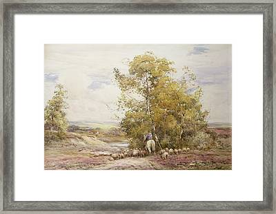 Dorset Pastoral Wc On Paper Framed Print by Claude Hayes