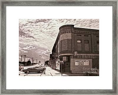 Dorthea's Corner Lounge Framed Print by Gregory Dyer