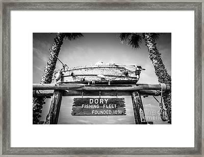 Dory Fishing Fleet Black And White Picture Framed Print