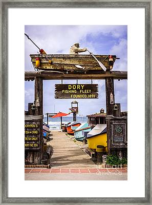Dory Fishing Fleet Market Newport Beach California Framed Print by Paul Velgos