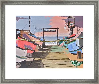 Dory Fishing Fleet -newport Beach Framed Print