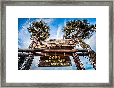 Dory Fishing Fleet Sign Newport Beach Balboa Peninsula Californi Framed Print