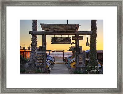 Dory Fleet Market Framed Print by Eddie Yerkish