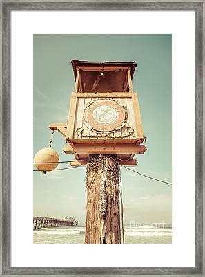 Dory Fleet Newport Beach Retro Picture Framed Print