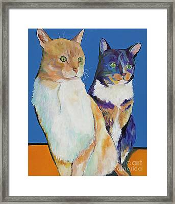 Dos Amores Framed Print by Pat Saunders-White