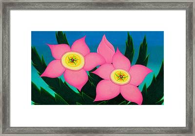 Dos Flores Framed Print by Richard Dennis