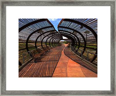 Dos Lagos Tunnel Walk Framed Print
