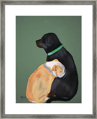 Doser And Cody Framed Print by Michele Turney