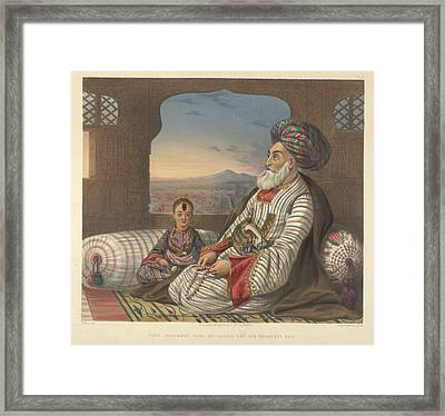 Dost Mahommed King Of Caubul Framed Print by British Library
