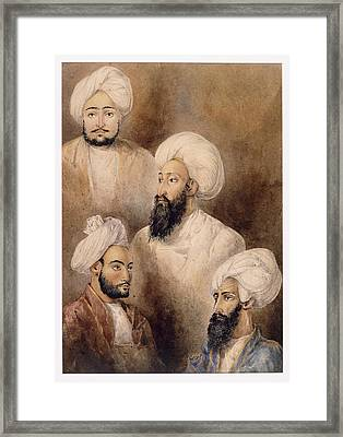 Dost Muhammad Khan & Family Framed Print by British Library