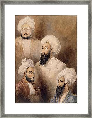 Dost Muhammad Khan And Family Framed Print