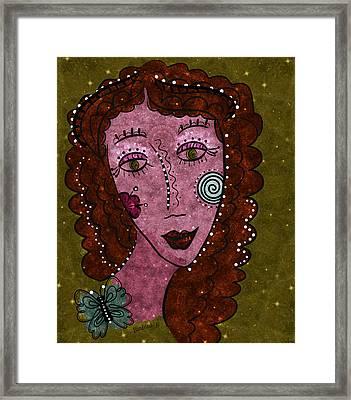 Framed Print featuring the digital art Dot Me by Barbara Orenya