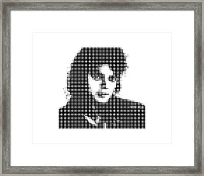 Michael Jackson - Dot Portrait Framed Print
