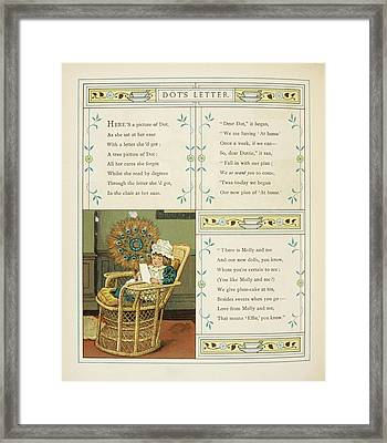 Dot's Letter Framed Print by British Library