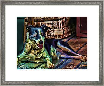 Framed Print featuring the digital art Dottie Blued by Robert Rhoads