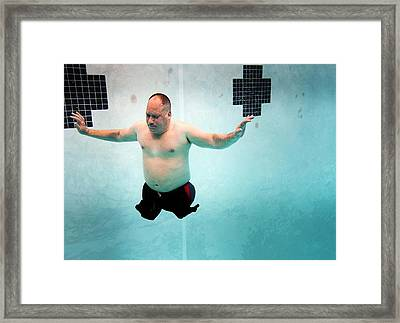 Double Amputee Swimmer Framed Print