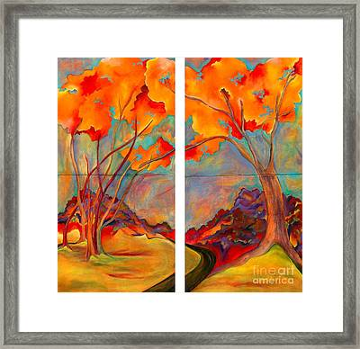 Double Arbor Framed Print