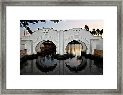 Double Arch Ala Moana Framed Print by DJ Florek
