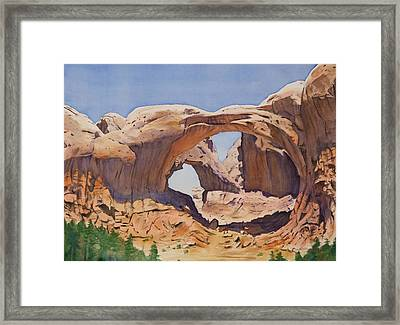 Double Arch Framed Print by Christopher Reid