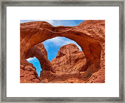 Double Arch Goodness Framed Print