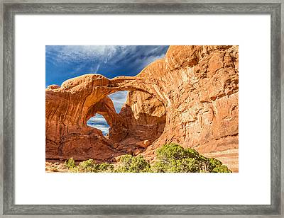 Double Arch In Arches National Park Utah Framed Print