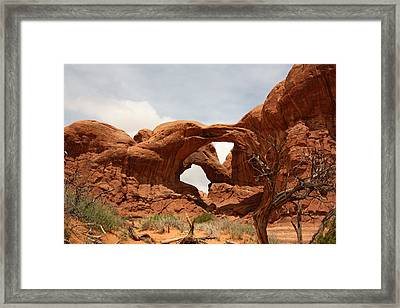Double Arch In Arches Np Framed Print