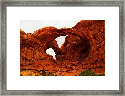 Double Arches Framed Print by Jeff Swan