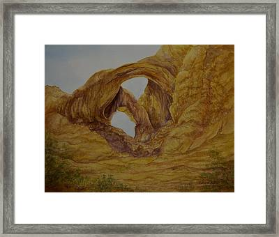 Double Arches Framed Print by Kathleen Keller