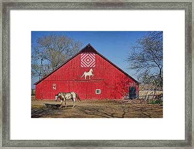 Double Bar N - 1 Framed Print