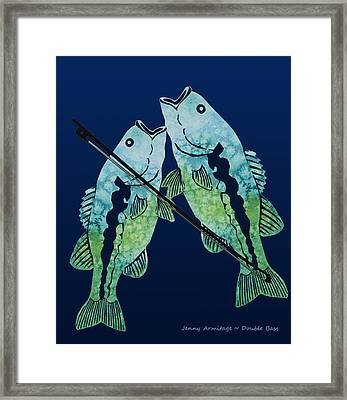 Double Bass Framed Print by Jenny Armitage