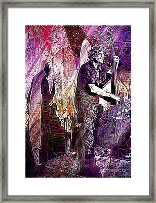 Double Bass Silhouette  Framed Print