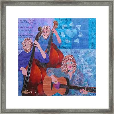 Double Bass With Six Strings Framed Print by Laura Nance