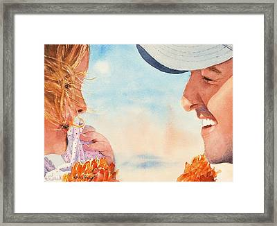 Double Blessing Framed Print by Kathy Nesseth