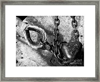 Double Boat Tie Out Framed Print by John Rizzuto