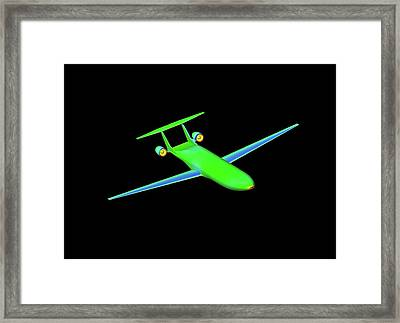 Double Bubble D8 Aircraft Simulation Framed Print