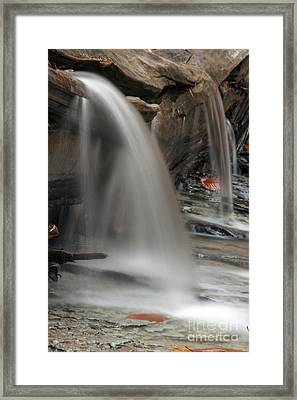 Double Cascade Framed Print by Darleen Stry