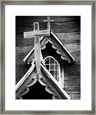 Double Cross Framed Print by Jim Rossol