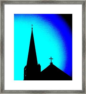 Double Crosses Framed Print by Chris Berry