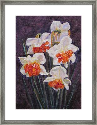 Double Daffodil Replete Framed Print