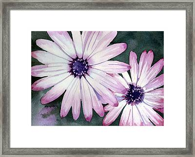 Double Daisy Framed Print by Spencer Meagher