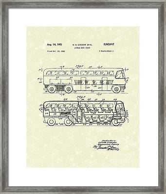Double-deck Coach 1951 Patent Art Framed Print by Prior Art Design