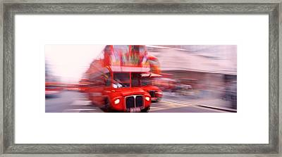 Double Decker Bus, London, England Framed Print by Panoramic Images
