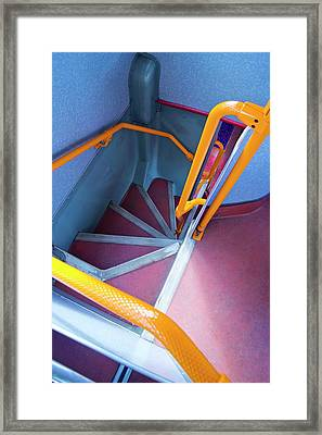 Double-decker Bus Stairs. Framed Print