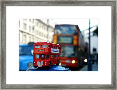 Double Deckers At Piccadilly Circus  Framed Print
