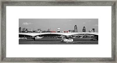 Double Deckers On The Waterloo Framed Print by Arnel Manalang