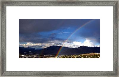 Framed Print featuring the photograph Double Delight by Kathy Bassett