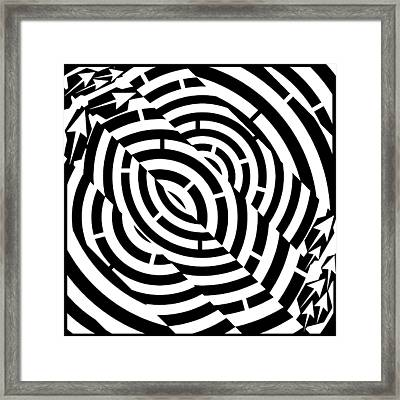 Double Diagonal Tunnel Maze  Framed Print