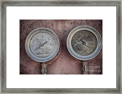 Double Dials Framed Print by Erika Weber